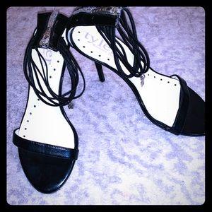 Vintage Richard Tyler Black Strappy Sandal/Heels.